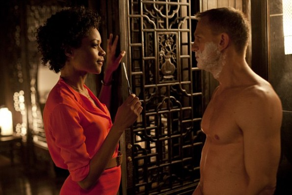 Naomie Harris and Daniel Craig star Metro-Goldwyn-Mayer Pictures/Columbia Pictures/EON Productions' action adventure SKYFALL.