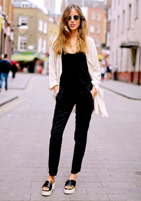 jumpsuit-street-style-look-macacao-jardineira-preta-veludo-casao-bege