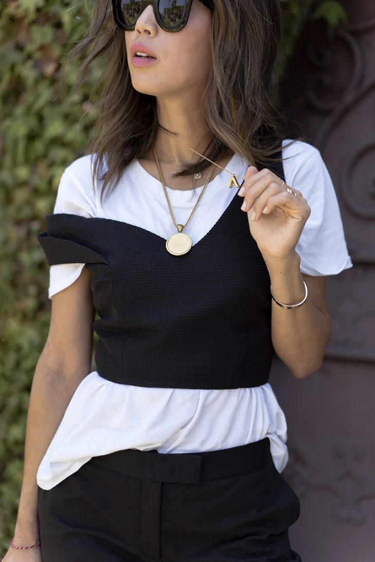 aimee_song_of_style_black_crop_bustier_layered_over_tee_celine_sunglasses-1
